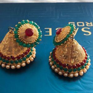 Earrings gold plat